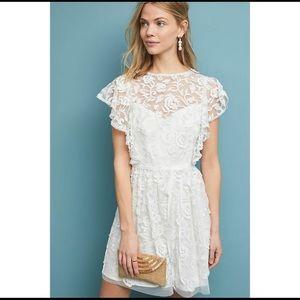 Monique Lhuillier Anthro Porcia Lace Dress